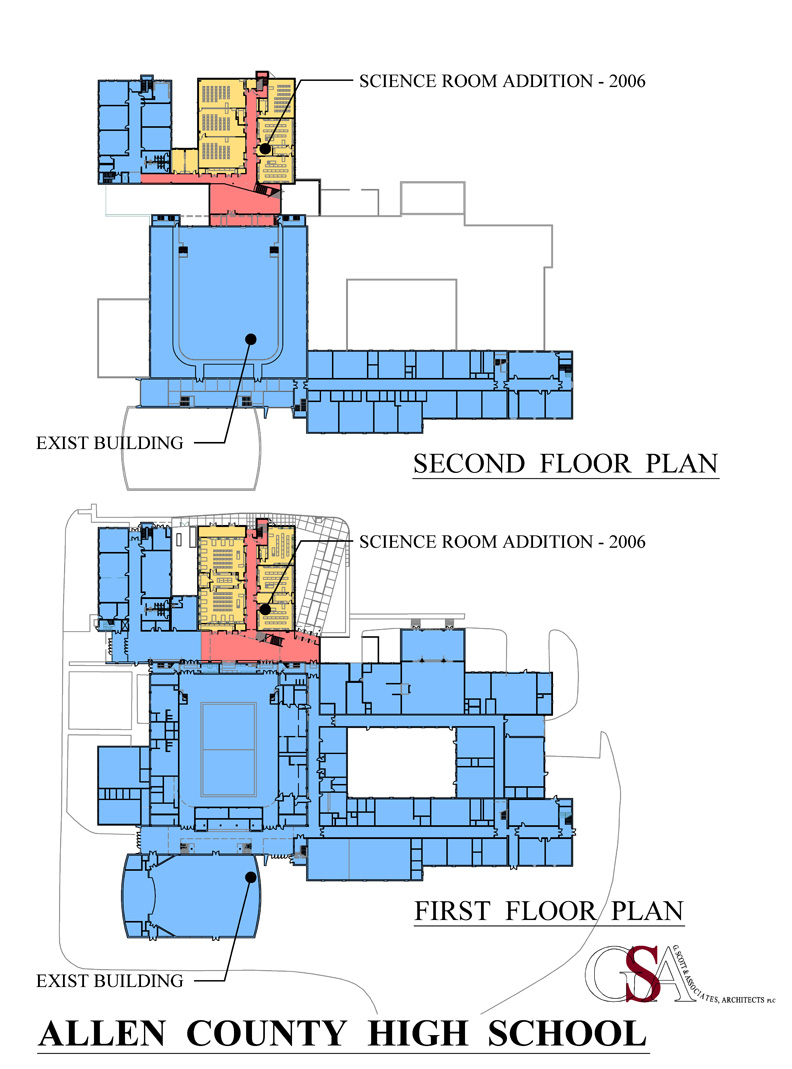 High School Classroom Design Layout ~ Allen county high school science wing classroom addition